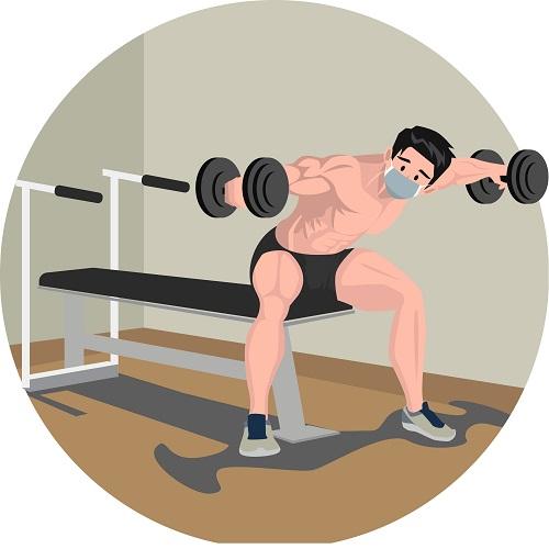 rutina de ejercicios ilustracion