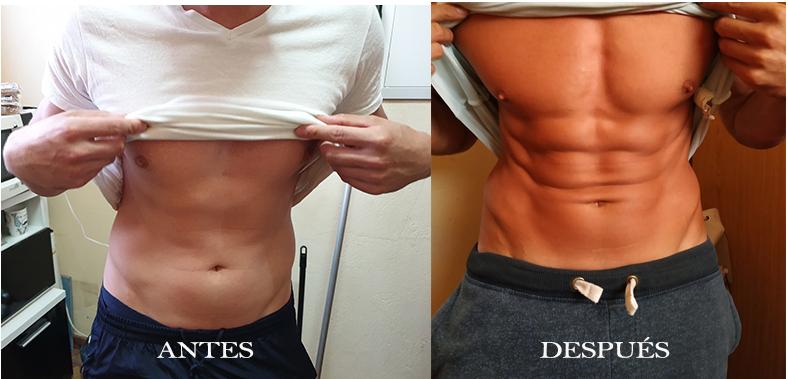 abdominales en 2 meses antes y despues