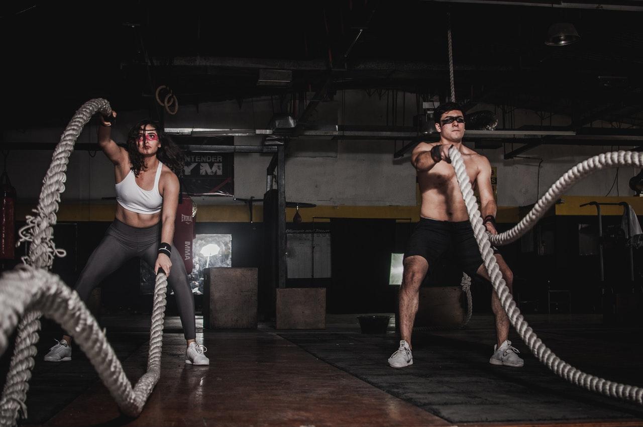 ejercicios con cuerda de batalla
