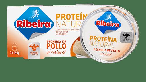 latas de proteína natural pollo